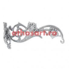 Agatatoare argintata (17 cm) cod P45-9775N