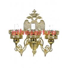 Aplica Athos bronz aurit (3 becuri) (18x40 cm) cod 72-504
