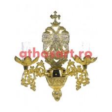 Aplica bronz aurit (2 becuri) (10x33 cm) cod 83-545