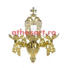 Aplica bronz aurit (3 becuri) (10x33 cm) cod 83-546