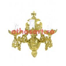 Aplica aluminiu aurit (3 becuri) (20x30 cm) cod 88-573