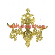 Aplica aluminiu aurit (2 becuri) (20x30 cm) cod 88-574