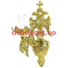 Aplica aluminiu aurit  (1 bec) (20x30 cm) cod 88-575