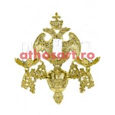 Aplica aluminiu aurit (3 becuri) (20x36 cm) cod 88-576