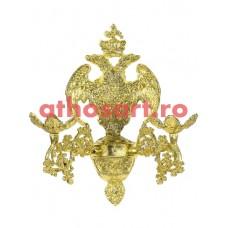 Aplica aluminiu aurit (2 becuri) (20x36 cm) cod 88-577