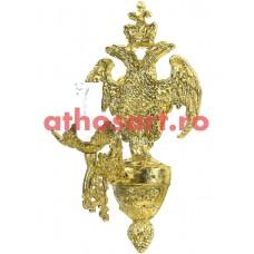 Aplica aluminiu aurit (1 bec) (20x36 cm) cod 88-578