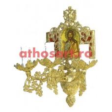Aplica aluminiu aurit (3 becuri) (20x36 cm) cod 88-579