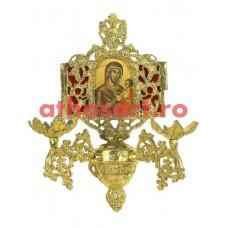 Aplica aluminiu aurit (2 becuri) (20x36 cm) cod 88-580