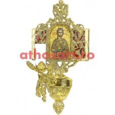 Aplica aluminiu aurit (1 bec) (20x36 cm) cod 88-581