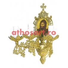 Aplica aluminiu aurit (3 becuri) (20x36 cm) cod 88-582