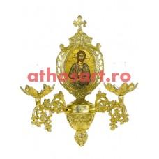 Aplica aluminiu aurit (2 becuri) (20x36 cm) cod 88-583