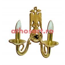 Aplica bronz aurit (2 becuri) (36x24 cm) cod K645