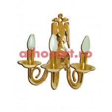 Aplica bronz aurit (3 becuri) (36x24 cm) cod K646