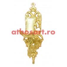 Aplica aluminiu aurit (1 bec) (20x30 cm) cod K647