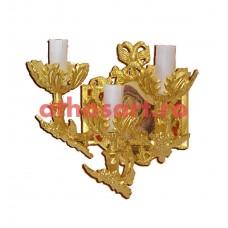 Aplica aluminiu aurit (3 becuri) (19x27 cm) cod K653