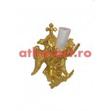 Aplica aluminiu aurit (1 bec) (10x24 cm) cod K655