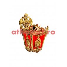 Aplica aluminiu aurit (1 bec) (28x33x40 cm) cod K224-01