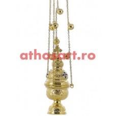 Cadelnita aurit cu medalion email (9x25 cm) (0.75 kg) cod 50-330