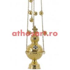 Cadelnita aurita cu medalion email (10x23 cm) (0.75 kg) cod 50-331