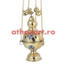 Cadelnita aurita cu medalion email (23 cm) cod P66-9781B