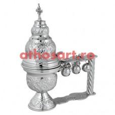 Cadelnita argintata cu medalion email (25x20 cm) cod P66-9841N