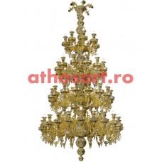 Candelabru Athos din bronz (64 becuri) (135x265 cm) cod 71-498