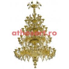 Candelabru bronz aurit (64 becuri) (150x260 cm) cod 74-509