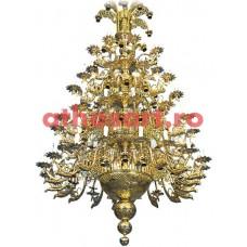 Candelabru bronz aurit (120 becuri) (150x290 cm) cod 75-511