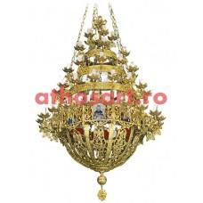 Candelabru Bizantin bronz aurit (80 becuri) (120x190 cm) cod 80-533