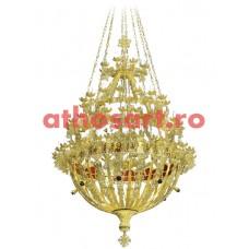 Candelabru Bizantin aluminiu (120 becuri) (133x208 cm) cod 86-561