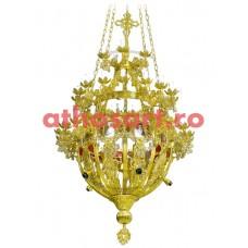Candelabru Bizantin aluminiu (50 becuri) (94x170 cm) cod 86-562