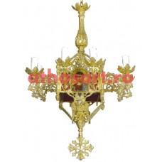 Candelabru Bizantin aluminiu (9 becuri) (50x77 cm) cod 87-570
