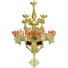 Candelabru Bizantin aluminiu (13 becuri) (50x83 cm) cod 87-571