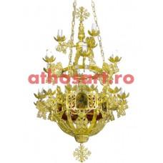 Candelabru Bizantin aluminiu (22 becuri) (65x112 cm) cod 87-572