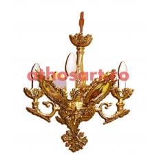 Candelabru aluminiu aurit (4 becuri) (45x55 cm) cod K226-05