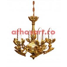 Candelabru aluminiu aurit (6 becuri) (35x50 cm) cod K227-12