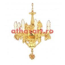 Candelabru aluminiu aurit (9 becuri) (60x80 cm) cod K253-01