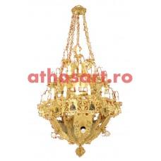 Candelabru aurit (50 becuri) (90x135 cm) cod K253-05