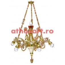 Candelabru aurit si argintat (7 becuri) (65x100 cm) cod K258-01