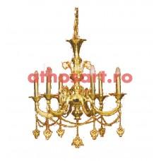 Candelabru aurit si argintat (6 becuri) (75x80 cm) cod K260-01