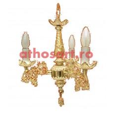 Candelabru aluminiu aurit (3 becuri) (55x65 cm) cod K264-01
