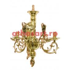 Candelabru alama aurit (3 becuri) (43x65 cm) cod K267-40A