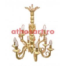 Candelabru alama aurit (9 becuri) (67x75 cm) cod K269-02