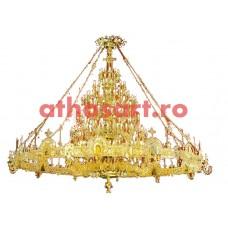 Candelabru  cu Horos alama aurit (200 becuri) (400x240 cm) cod K270-36
