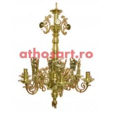 Candelabru alama aurit (6 becuri) (53x55 cm) cod K271-31A