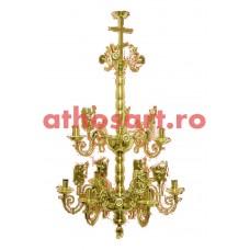 Candelabru alama aurit (9 becuri) (60x75 cm) cod K271-32A