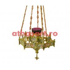 Candela cu Horos aurita si argintata (25x29x55 cm) cod K168