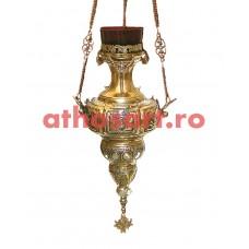 Candela Imparateasca aurita si argintata (19x42 cm) cod K183