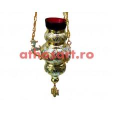 Candela Imparateasca aurita si argintata cu icoane (12x18 cm) cod K197