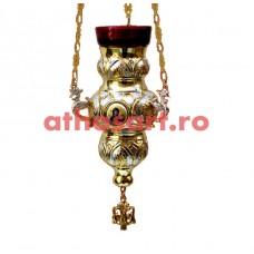 Candela Imparateasca aurita si argintata cu icoane (14x21 cm) cod K198